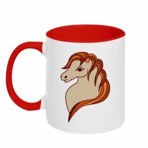 Kubek dwukolorowy Red horse