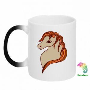Kubek-kameleon Red horse