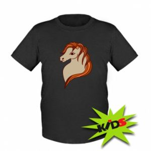 Kids T-shirt Red horse