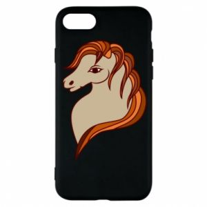 Phone case for iPhone 8 Red horse