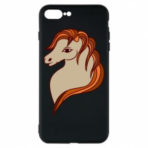 Phone case for iPhone 8 Plus Red horse