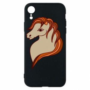 Phone case for iPhone XR Red horse
