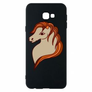 Phone case for Samsung J4 Plus 2018 Red horse