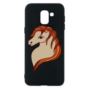 Phone case for Samsung J6 Red horse