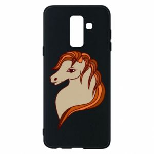 Phone case for Samsung A6+ 2018 Red horse
