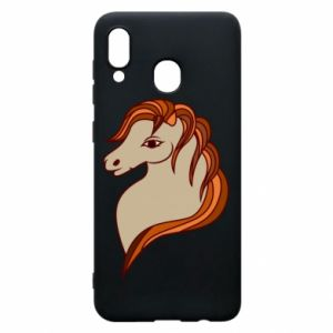 Phone case for Samsung A20 Red horse