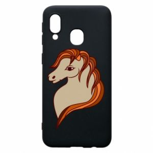 Phone case for Samsung A40 Red horse
