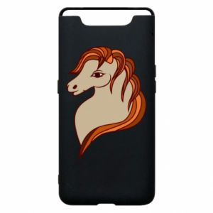 Phone case for Samsung A80 Red horse
