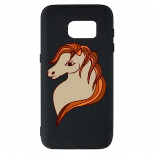 Phone case for Samsung S7 Red horse