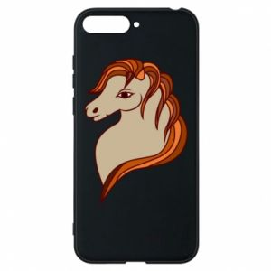 Phone case for Huawei Y6 2018 Red horse