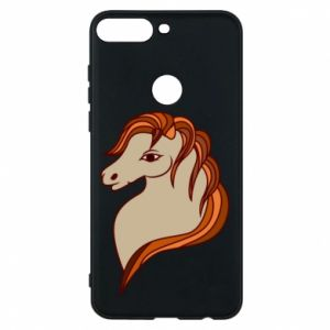 Phone case for Huawei Y7 Prime 2018 Red horse