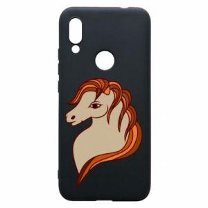 Phone case for Xiaomi Redmi 7 Red horse