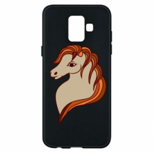 Phone case for Samsung A6 2018 Red horse