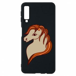 Phone case for Samsung A7 2018 Red horse