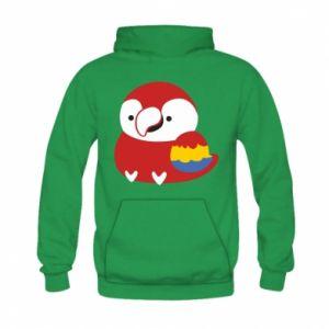 Bluza z kapturem dziecięca Red parrot