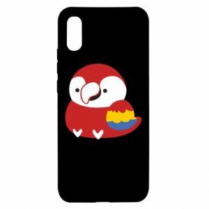 Etui na Xiaomi Redmi 9a Red parrot