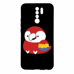 Etui na Xiaomi Redmi 9 Red parrot