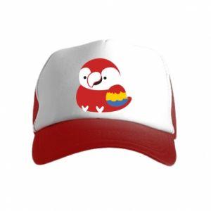 Czapka trucker dziecięca Red parrot