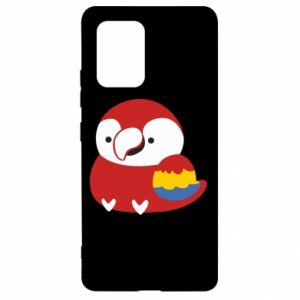 Etui na Samsung S10 Lite Red parrot