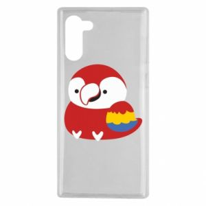 Etui na Samsung Note 10 Red parrot
