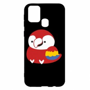 Etui na Samsung M31 Red parrot