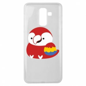 Etui na Samsung J8 2018 Red parrot