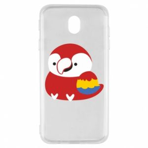 Etui na Samsung J7 2017 Red parrot