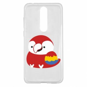 Etui na Nokia 5.1 Plus Red parrot