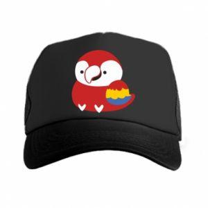 Czapka trucker Red parrot