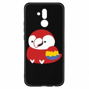 Etui na Huawei Mate 20 Lite Red parrot
