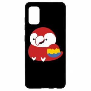 Etui na Samsung A41 Red parrot
