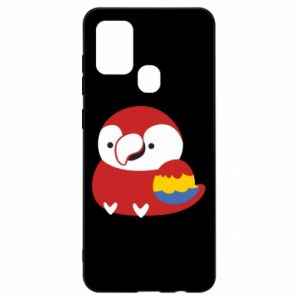 Etui na Samsung A21s Red parrot