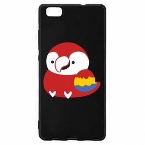 Etui na Huawei P 8 Lite Red parrot