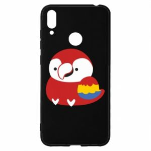 Etui na Huawei Y7 2019 Red parrot