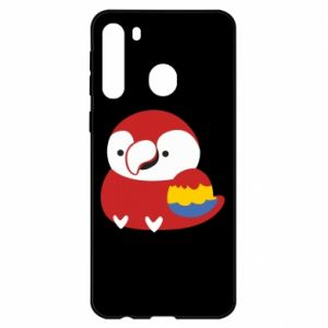 Etui na Samsung A21 Red parrot