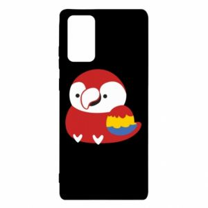 Etui na Samsung Note 20 Red parrot