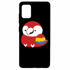 Etui na Samsung A51 Red parrot