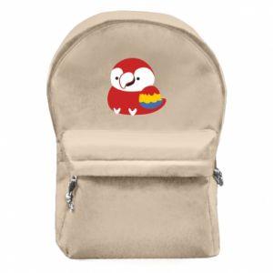 Plecak z przednią kieszenią Red parrot