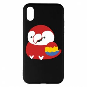 Etui na iPhone X/Xs Red parrot