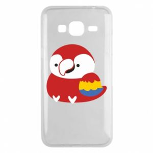 Etui na Samsung J3 2016 Red parrot