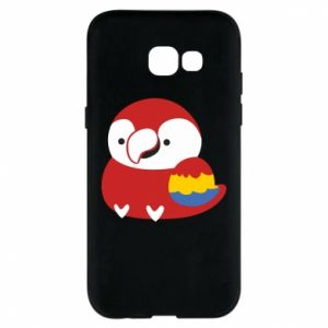 Etui na Samsung A5 2017 Red parrot