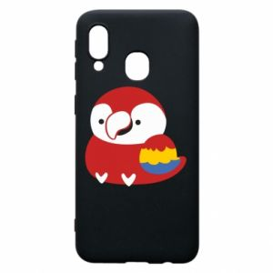Etui na Samsung A40 Red parrot