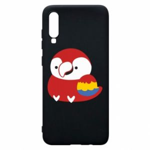 Etui na Samsung A70 Red parrot