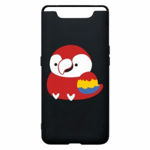Etui na Samsung A80 Red parrot