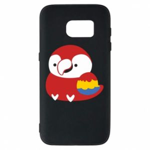 Etui na Samsung S7 Red parrot