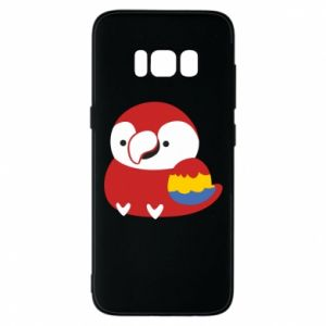 Etui na Samsung S8 Red parrot