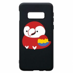Etui na Samsung S10e Red parrot