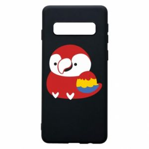Etui na Samsung S10 Red parrot