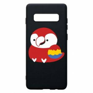 Etui na Samsung S10+ Red parrot