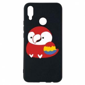 Etui na Huawei P Smart Plus Red parrot